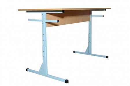 Стіл для їдалень прямокутний 4-місний регулюємий (пластикова столешня)