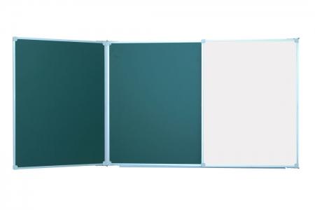 Дошки аудиторні на основі сталевого емальованого листа (3000х1000 зелена+біла комбінована)
