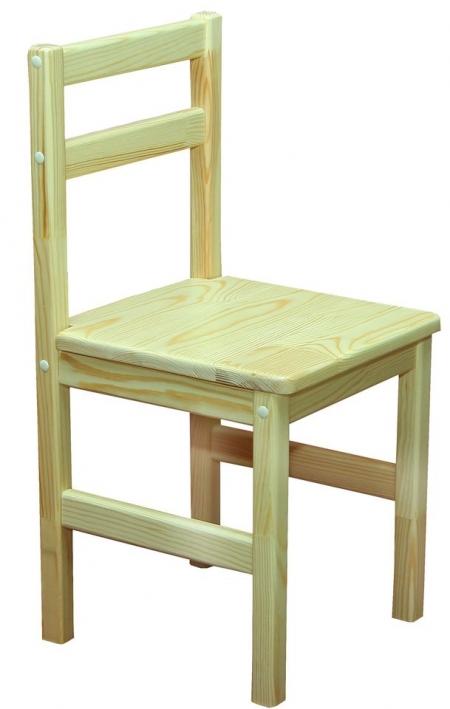 Стілець дитячий з натуральної деревини, сидіння щит 16 мм (250х260х510 мм, (Н-260 мм))