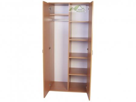 Шафа для одягу і книг закрита 2-дверна