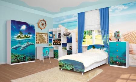 Дитяча кімната Дельфіни Світ Меблів ДСП + Фотодрук