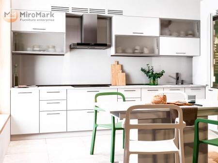 Кухня кутова Міромарк Б'янка (ДСП Глянець Білий) 60х320 см