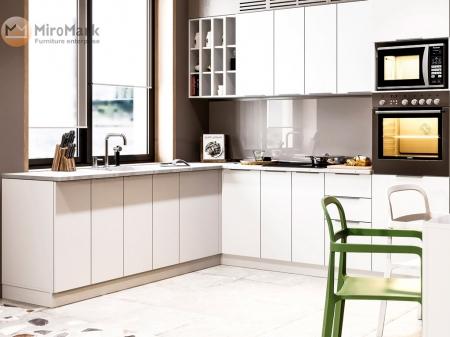 Кухня кутова Міромарк Орландо (ДСП Глянець Білий) 240х260 см