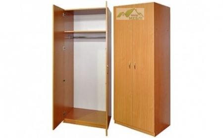 Шафа для одягу з  штангою 2-дверна