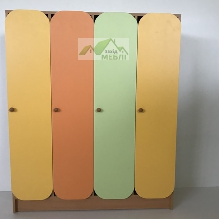 Шафа дитяча 4-секційна з фігурними дверима
