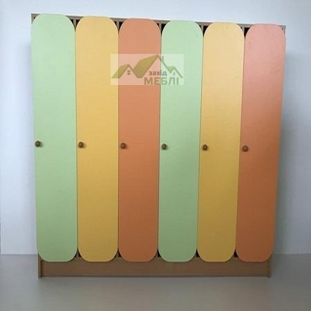 Шафа дитяча 6-секційна з фігурними дверима
