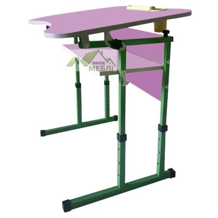 Комплект (стіл та стілець) антисколіозний з полицею, з регулюванням по висоті на ростові групи №3-5 лаванда