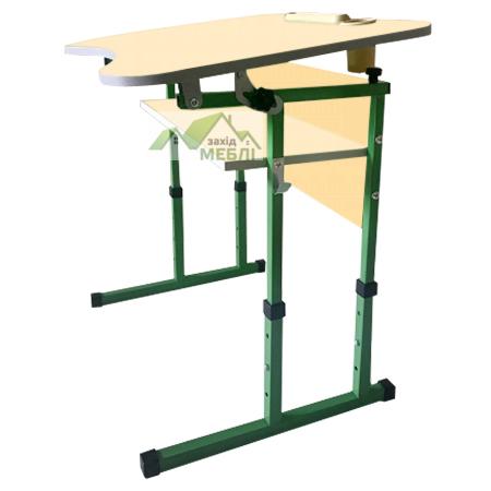 Комплект (стіл та стілець) антисколіозний з полицею, з регулюванням по висоті на ростові групи №3-5 ваніль