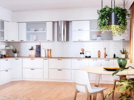 Кухня кутова Міромарк Вінтаж (МДФ Мат Білий) 270х470 см