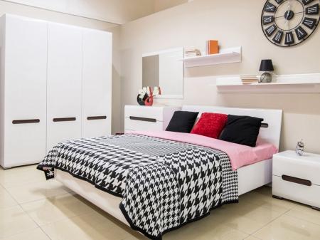 Спальня Ацтека BRW Україна МДФ (Комод 4S + Дзеркало + Шафа 3D)