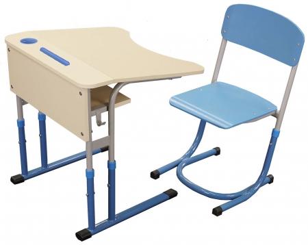 Комплект стіл учнівський антисколіозний та стілець з регулюванням висоти_2