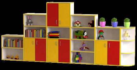 """Стінка дитяча для іграшок""""Гірка"""" (кольорова)"""